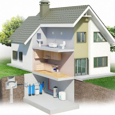 Монтаж системы водоснабжение в коттедже или частном доме, даче под ключ